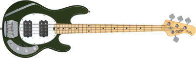 Sterling By Musicman Stingray Ray4 HH Olive Tastiera Acero