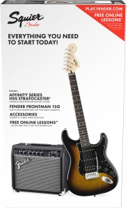 SQUIER STARTER KIT STRATOCASTER 15G BROWN SUNBURST