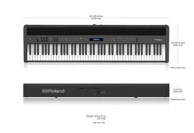 Roland Fp60X Bk Pianoforte Digitale 88 Tasti Nero