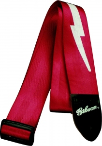 GIBSON STRAP LIGHTNING BOLT FERRARI RED