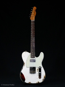 FENDER LIMITED REVERSE CUSTOM TELECASTER HS HEAVY RELIC OLYMPIC WHITE
