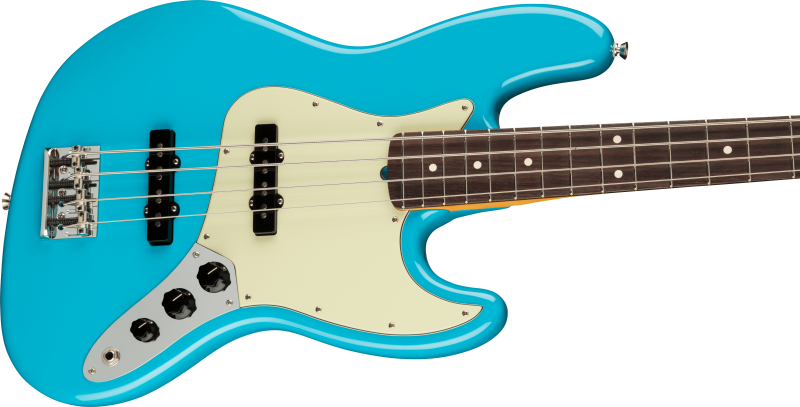 Fender American Professional Ii Jazz Bass Rosewood Miami Blue 2