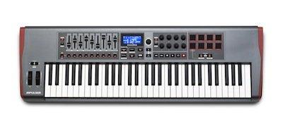 NOVATION IMPULSE 61 TASTIERA CONTROLLER MIDI USB 61 TASTI SEMIPESATI