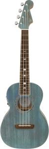 Fender Dani Harrison Uke, Walnut Fingerboard, Turquoise