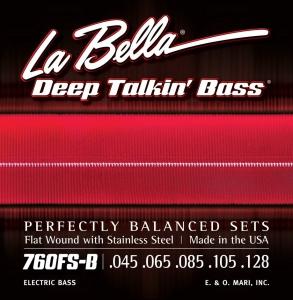 La Bella 760FS-B Muta Per Basso Elettrico 5 Corde Lisce 045-128