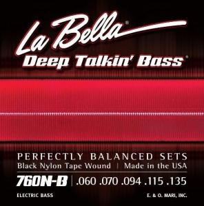 LA BELLA 0760N-B MUTA PER BASSO ELETTRICO 5 CORDE LISCE 60-135