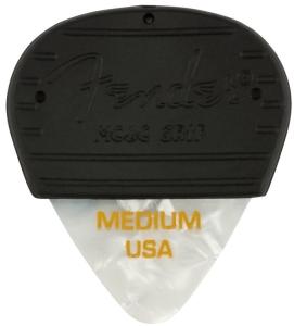 Fender Mojo Grip Picks Celluloid Medium 3-Pack White Moto