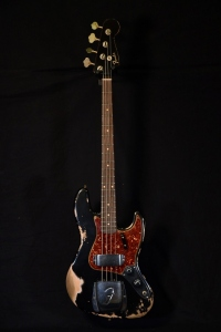 FENDER CUSTOM SHOP 61 JAZZ BASS HEAVY RELIC BLACK