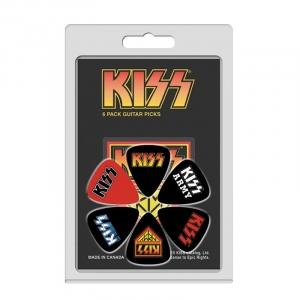 PERRI'S LP-KISS2 PLETTRI KISS CONFEZIONE 6 PZ ARANCIO