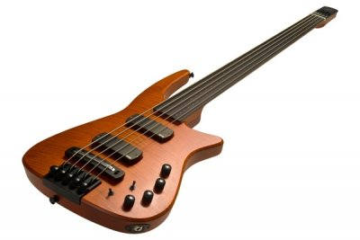 NS Design CR Radius Bass 5 Fretless Amber Satin