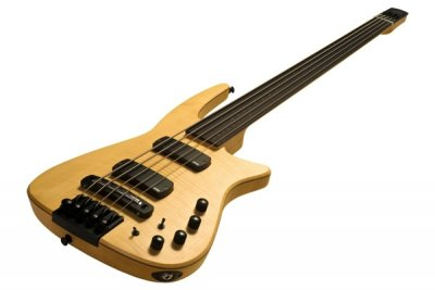 CR Radius Bass 5 Fretless Natural Satin