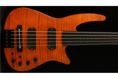 NS Design CR Radius Bass 4 Fretless Amber Satin