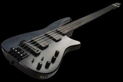 NS Design CR Radius Bass 4 Fretless Charcoal Satin