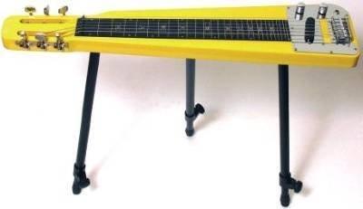Artisan Ea2Yl Lap Steel Gialla Con Supporto E Borsa