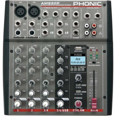 PHONIC AM220P MIXER 4 CANALI