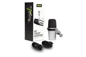 Shure MV7-S Microfono dinamico cardioide XLR/USB Argento