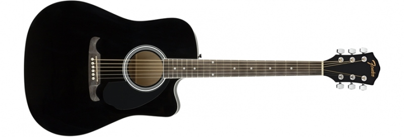 FENDER FA125CE DREADNOUGHT BLACK CHITARRA ACUSTICA