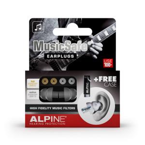 Alpine Kit Auricolari per Musicisti con 2 Filtri Attenuazione e Travelbox