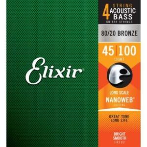 Elixir 14502 Nanoweb Nickel Plated Muta Per Basso Elettrico 45-100