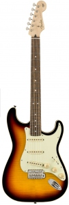 FENDER AERODYNE LTD CLASSIC STRATOCASTER FLAME TOP 3 COLOUR SUNBURST