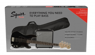 SQUIER AFFINITY PRECISION BASS PJ PACK RUMBLER 15 BLACK
