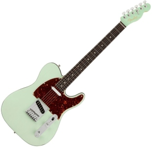 Fender American Ultra Luxe Telecaster Rw Transparent Surf Green