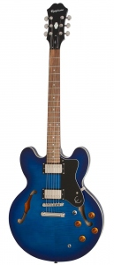 EPIPHONE DOT DELUXE FLAME MAPLE TOP BLUE BURST