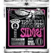 Ernie Ball 3123 Super Slinky 09 - 42 Coated Titanium Per Chitarra Elettrica