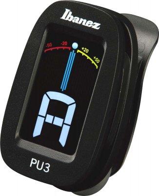 Ibanez Pu3-Bk Accordatore Cromatico A Clip Nero