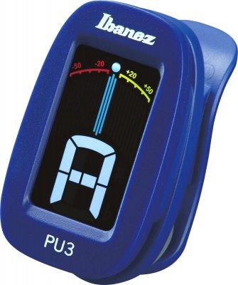 Ibanez Pu3-Bl Accordatore Cromatico A Clip Blu