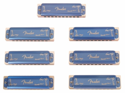 Fender Midnight Blues Armonica Set 7 Pack con Custodia