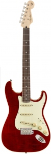 FENDER AERODYNE LTD CLASSIC STRATOCASTER FLAME TOP RED