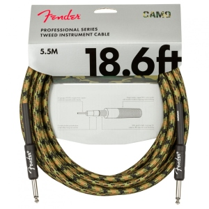 Fender Professional Instrument Cable Straight/Straight Mt5,5 Woodland Camo