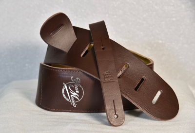 Your Music Tracolla 7 Cm In Cuoio Imbottita Brown Made In Italy