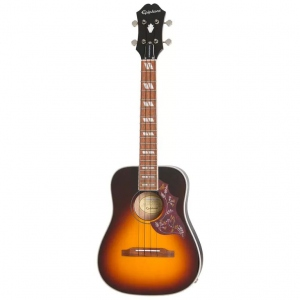 EPIPHONE HUMMINGBIRD ACUSTIC ELECTRIC UKULELE TENOR TOBACCO SUNBURST
