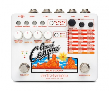 ELECTRO HARMONIX GRAND CANYON DELAY AND LOOPER PEDALE EFFETTO