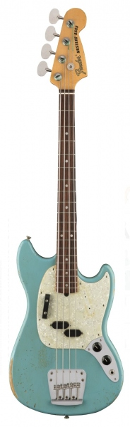FENDER JMJ ROAD WORN MUSTANG BASS FADED DAPHNE BLUE