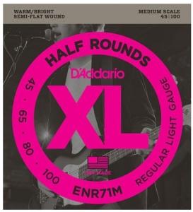 D'ADDARIO ENR71M HALF ROUNDS BASS MEDIUM SCALE 45-100