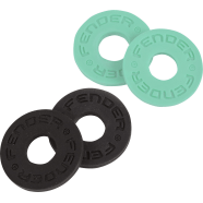FENDER STRAP BLOCKS 2 BLACK 2 SURF GREEN 4PZ