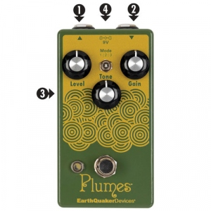 EARTHQUAKER DEVICES PLUMES OVERDRIVE PER CHITARRA