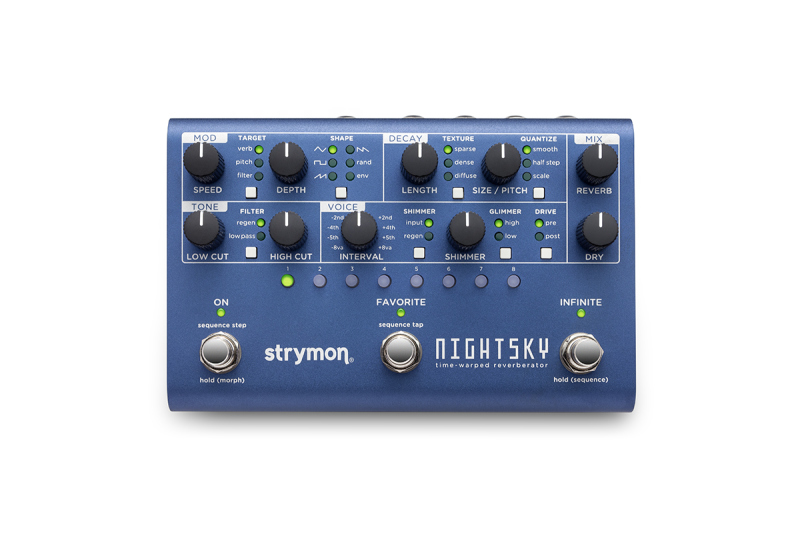 STRYMON NIGHT SKY TIME WARPED REVERBERANT SYNTHESIS MACHINE