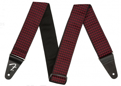 Fender Tracolla Houndstooth Jacquard Red