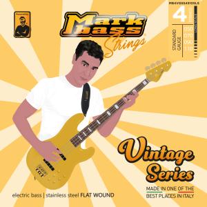 Markbass Electric Bass Steel Flat Wound 50-110