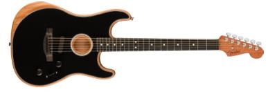 Fender American Acoustasonic  Stratocaster Black Ebony Fingerboard