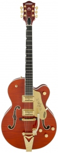 GRETSCH G6120TFM PLAYERS EDITION NASHVILLE ORANGE STAIN