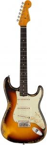 Fender 1960 Stratocaster Heavy Relic Faded Aged 3 Color Sunburst