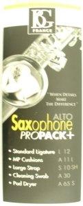 BG PROPACK+ KIT SAX ALTO