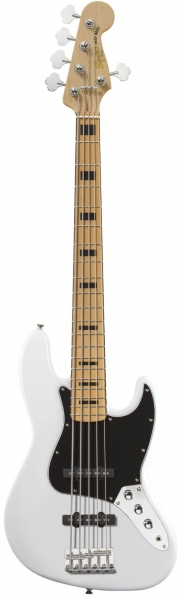 SQUIER VINTAGE MODIFIED JAZZ BASS 5 CORDE OLYMPIC WHITE