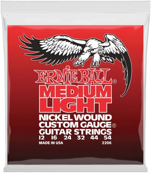 Ernie Ball 2206 Nickel Wound Custom Medium Light Slinky 12-54