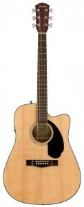 Fender Cd60Sce Dreadnought Natural Walnut Chitarra Acustica